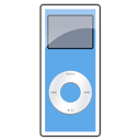 2g, blue, ipod, nano icon