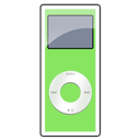 2g, green, ipod, nano icon