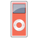 2g, ipod, nano, red icon