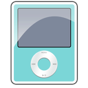 3g, apple, ipod, nano, teal icon