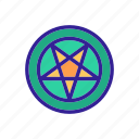 abstract, color, concept, linear, occult icon