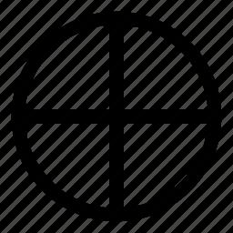 circle, cross, illuminati, occult, quadrant, solar, sun icon