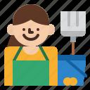 housekeeper, job, occupation, profession icon