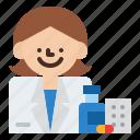 job, occupation, pharmacist, profession icon