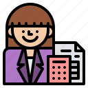 accountant, job, occupation, profession icon