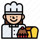 baker, job, occupation, profession icon