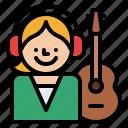 job, musician, occupation, profession icon