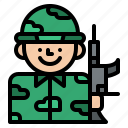 army, job, miliary, occupation, soldier icon