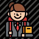 profession, occupation, job, student icon