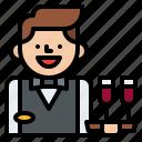 job, occupation, profession, waiter icon