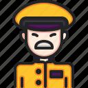 taxi, driver, professions, jobs, avatar, man