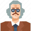 avatar, education, male, man, occupation, old, professor