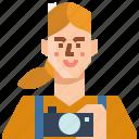avatar, female, girl, occupation, photographer, profile, woman