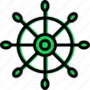 navigation, ocean, sea, water, wheel icon