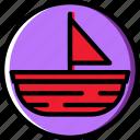 boat, ocean, sail, sea, water icon