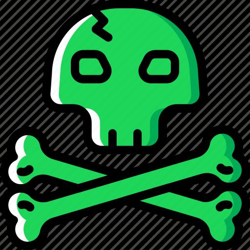 ocean, sea, skull, water icon