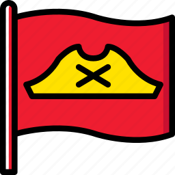flag, ocean, pirate, sea, water icon