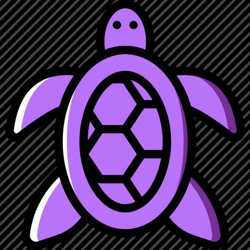 ocean, sea, tortoise, water icon