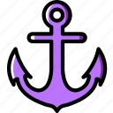 anchor, ocean, sea, water icon