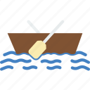 ocean, raft, sea, water icon