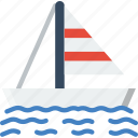 boat, ocean, sail, sea, water