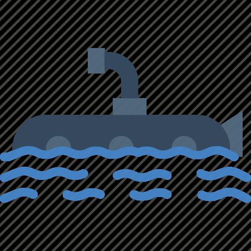 ocean, sea, submarine, water icon