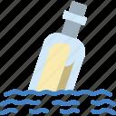 water, message, bottle, sea, ocean