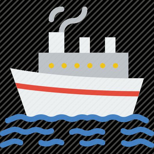 boat, cruise, ocean, sea, water icon