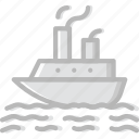 boat, ocean, sea, water icon