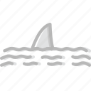 ocean, sea, shark, water icon