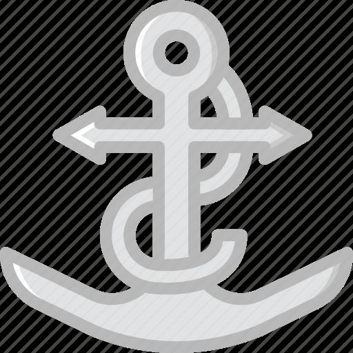 anchor, ocean, sea, water icon