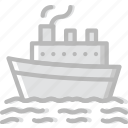 boat, cruise, ocean, sea, water