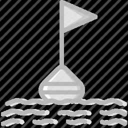 buoy, ocean, sea, water icon