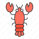 aquatic animal, lobster, ocean icon