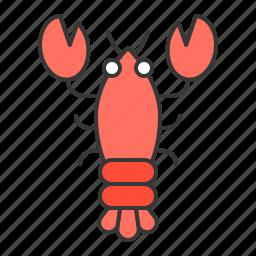 aquatic animal, lobster, ocean icon