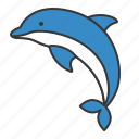 aquatic animal, dolphin, ocean, sea icon