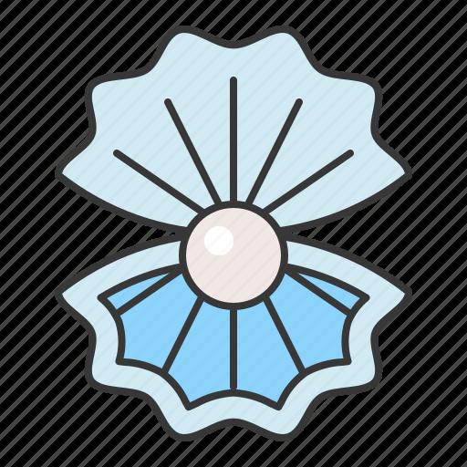 aquatic animal, ocean, pearl, shell icon