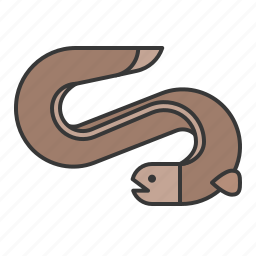 aquatic animal, eel, fish, ocean icon