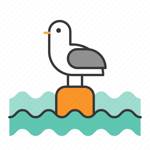 animal, bird, ocean, sea, seagull icon