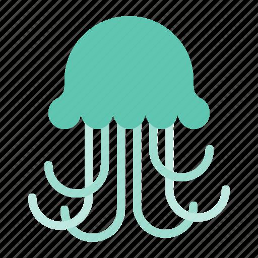 aquatic animal, jellyfish, ocean, sea icon