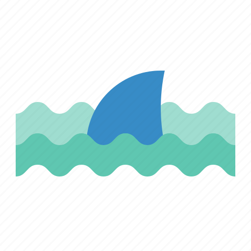 aquatic animal, fish, ocean, sea, shark icon