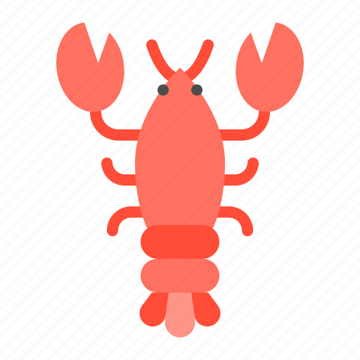 aquatic animal, lobster, ocean, sea icon