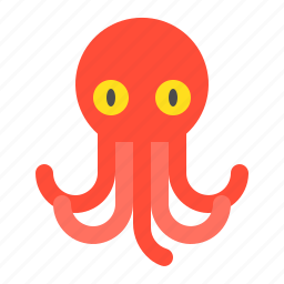 aquatic animal, ocean, octopus, sea icon