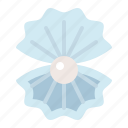 aquatic animal, ocean, pearl, sea, shell icon