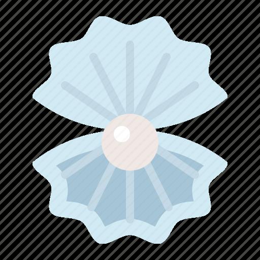 aquatic animal, ocean, pearl, sea, shell icon