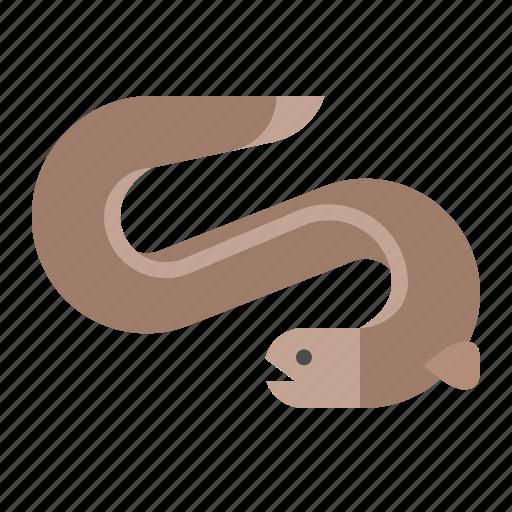 aquatic animal, eel, fish, ocean, sea icon