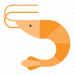 aquatic animal, ocean, sea, seafood, shrimp icon