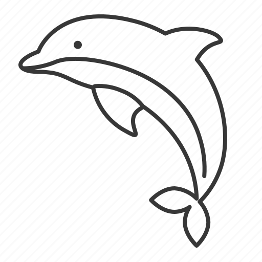 aquatic animal, dolphin, fish, life, sea icon