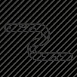 aquatic animal, life, sea, sea snake, snake icon