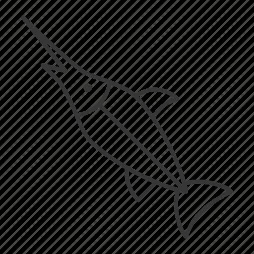 aquatic animal, fish, life, sea, seafood, swordfish icon
